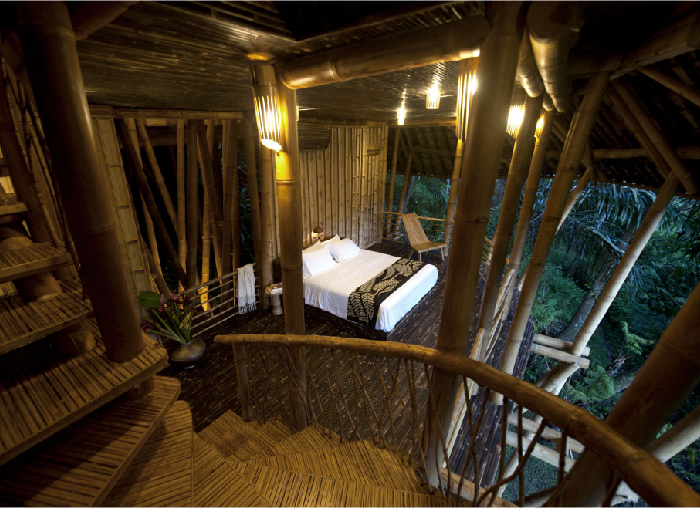 Bedroom - Sunrise House, Green Village, Bali, Indonesia. Outdoor, panoramic views of the jungle.