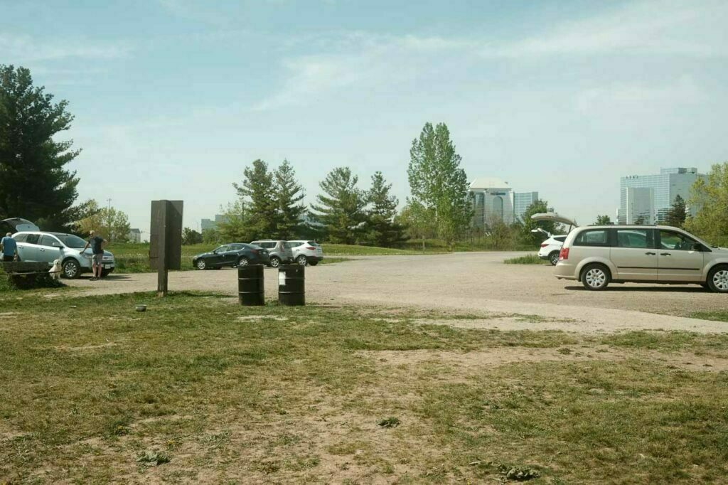 Dedicated Parking Lot for the Leash Free Trail located in the day use area of Bronte Creek Provincial Park