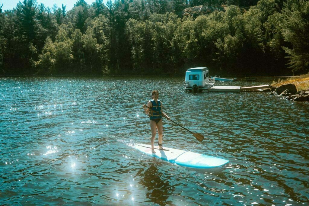 Stand Up Paddle Board in Murray Lake