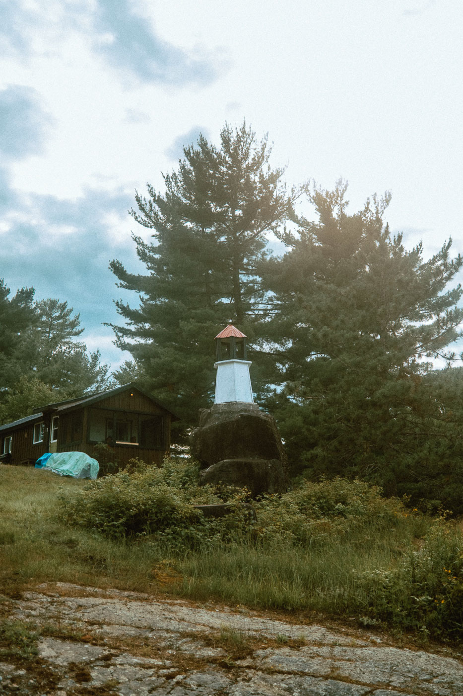The Pine Falls Lodge Property also includes a working lighthouse