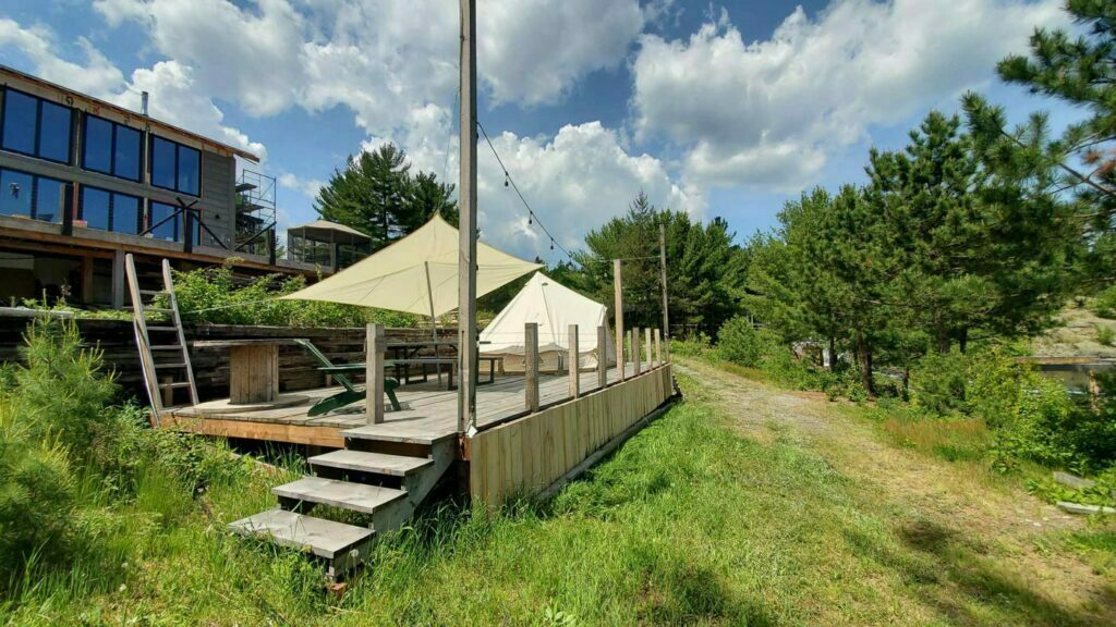 Glamping Tent at Pine Falls Lodge located in the Greater Sudbury Area - Photo Taken by Patrick Y from hipcamp